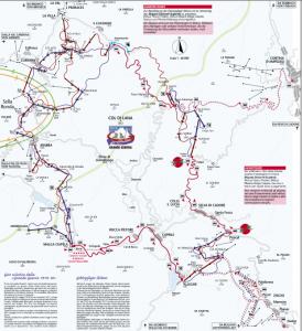 Ski map Giro Grande Guerra